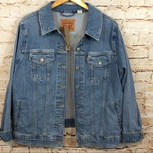 Levis denim jacket womens 3X trucker NEW jean